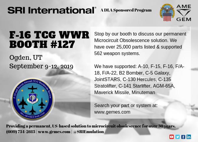 SRI F-16 2019 Booth Invitation