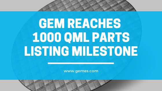 GEM Reaches 1000 QML Parts Listing Milestone